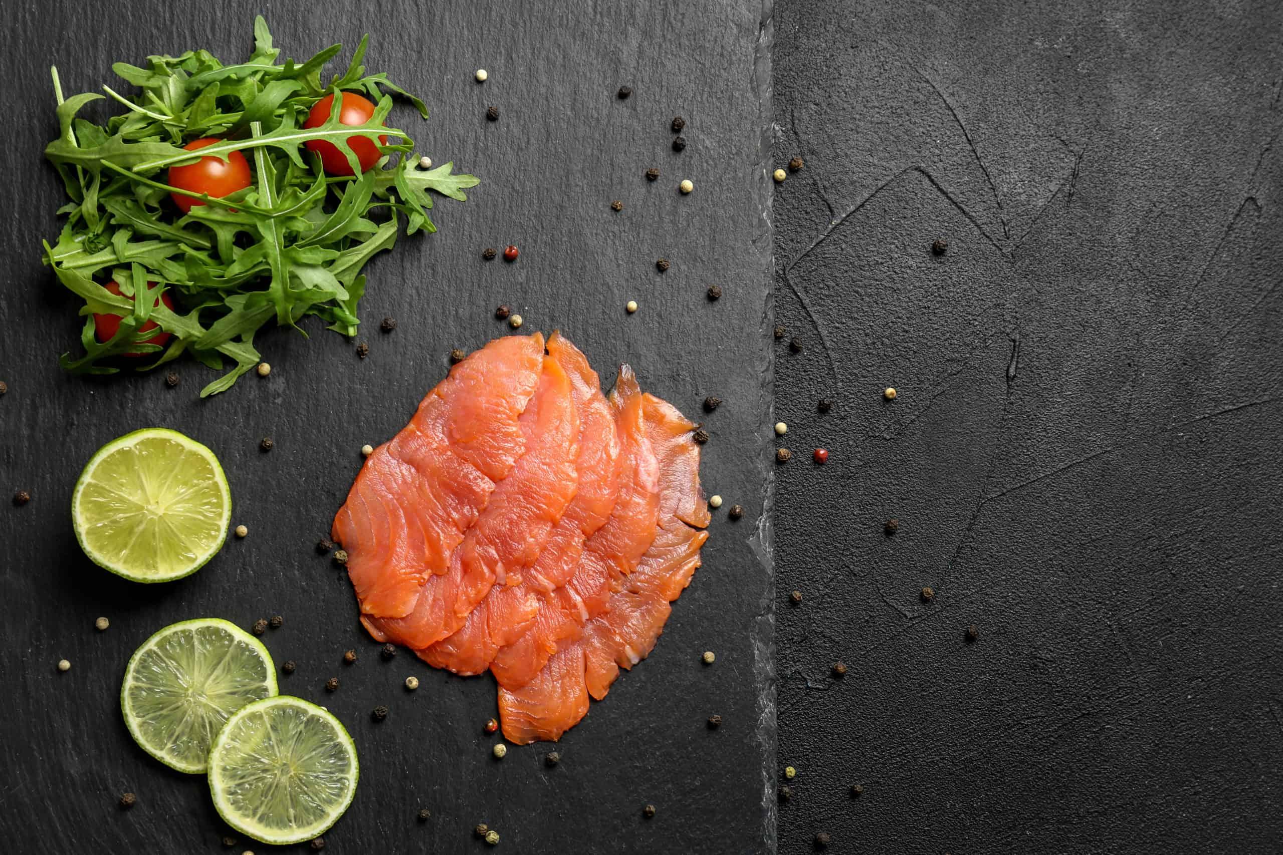 salmon on slate