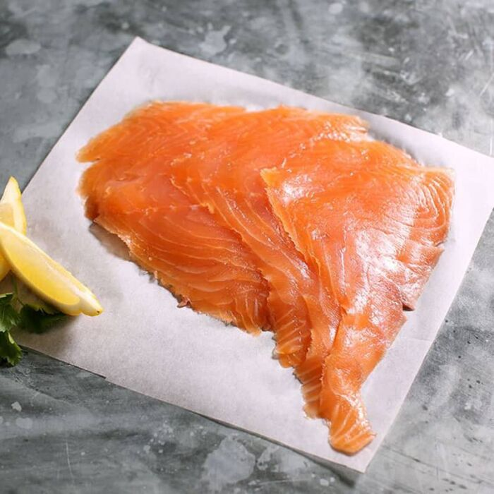 irish smoked salmon on paper