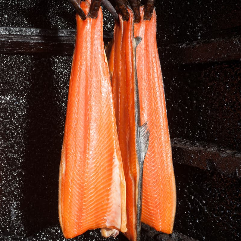 irish wild smoked salmon smoked hangs in ballyhack smokehouse