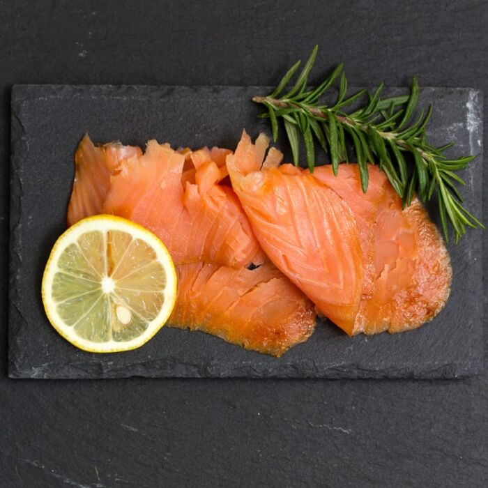 artisan smoked salmon ballyhack with lemon and herbs