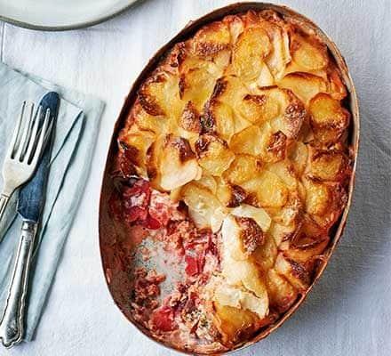 smoked salmon potato gratin