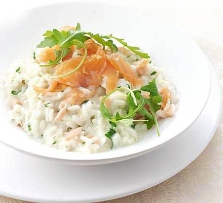 smoked salmon risotto