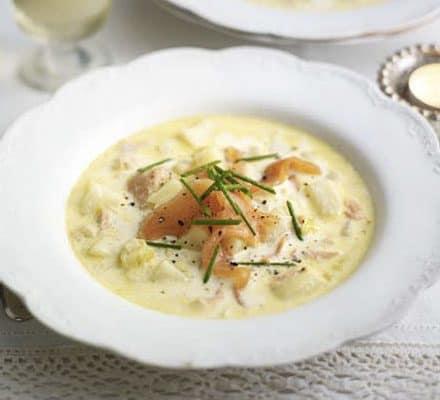 hearty smoked salmon soup